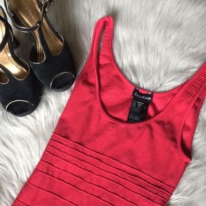 Bebe Stretchy Red Bodycon Dress